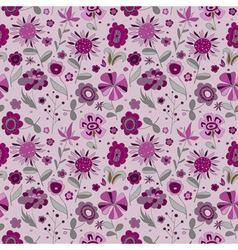 PatternWithVioletFlowers vector image
