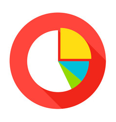 Pie chart flat circle icon vector
