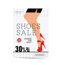 Poster of woman shoes sale with special offer vector