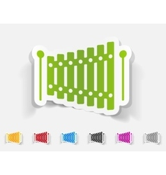 realistic design element xylophone vector image vector image