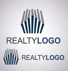 Realty logo 4 3 vector