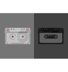 Retro Audio cassette Modern flat style vector image