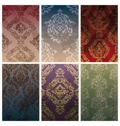 seamless vintage backgrounds vector image
