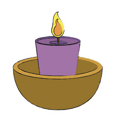Spa candle aromatherapy vector