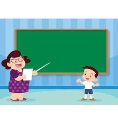 teacher and studen vector image vector image