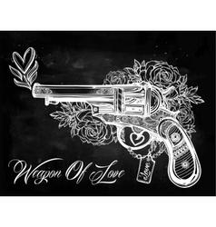 Vintage ornate pistol vector image