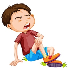 Boy hurting from accident vector image