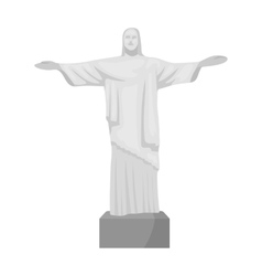 Christ the redeemer icon in monochrome style vector