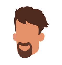 head man male faceless beard and mustache vector image