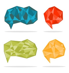 Trendy crystal shapes vector