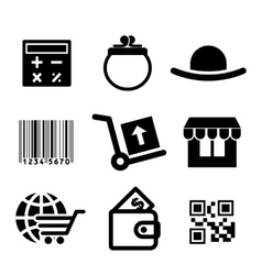 Shiopping icons set vector