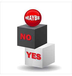 Yes no maybe 3d sign vector