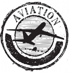 Aviation stamp vector