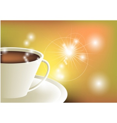 Coffee and sunlight vector
