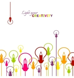 Creative visualisation of light bulbs and graphic vector