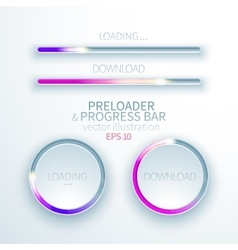 Icons preloaders and progress bars for loading vector