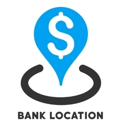 Bank location icon with caption vector