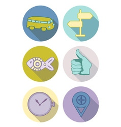 Icons pastel vector