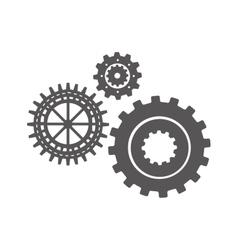 gear set silhouette design vector image