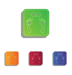 Bathroom scale sign colorfull applique icons set vector