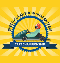 Auto racing spectacular show poster vector