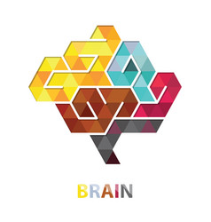 Brain polygon abstract vector
