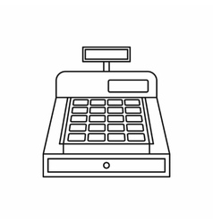 Cash register icon outline style vector