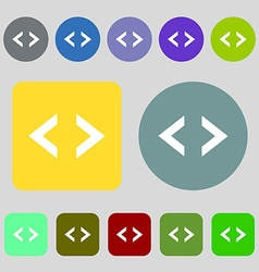 Code sign icon programmer symbol 12 colored vector