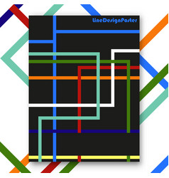 colorful line interior poster vector image vector image