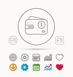 Dollar wallet icon usd cash money bag sign vector