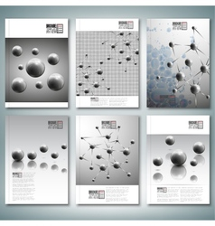 Drops molecule structure brochure flyer or report vector