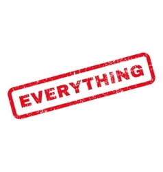Everything text rubber stamp vector