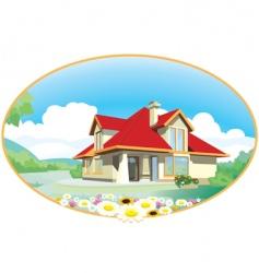 house emblem vector image