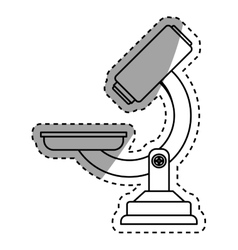 Microscope lab equipment vector image