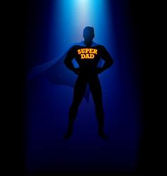 my dad my superhero vector image vector image