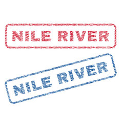 Nile river textile stamps vector