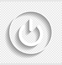 On off switch sign white icon with soft vector