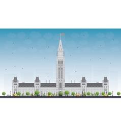 Parliament building in ottawa canada vector