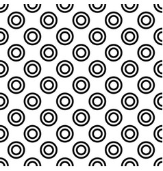 Repeating abstract monochrome circle pattern - vector