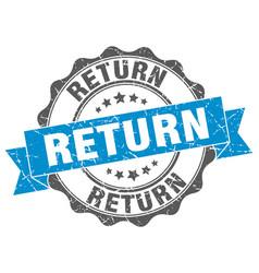 Return stamp sign seal vector
