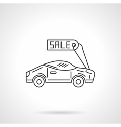 Sale sport car flat line design icon vector image