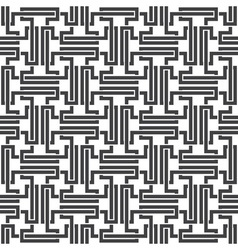 Seamless pattern of intersecting complex shapes vector