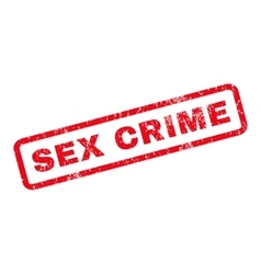 Sex crime rubber stamp vector