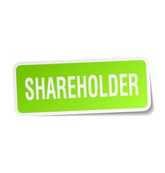 Shareholder square sticker on white vector