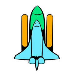 Space shuttle icon icon cartoon vector