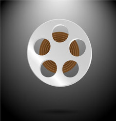Spool of film vector