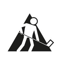 Triangle block ice hockey sport outline figure vector