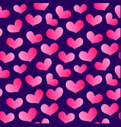 valentines hearts banner pattern 9 vector image vector image