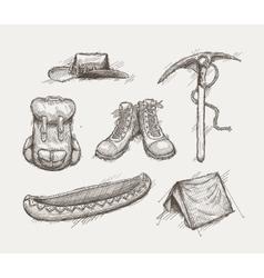 Vintage travel gear vector image