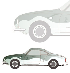 vw karmann-ghia-1966 vector image
